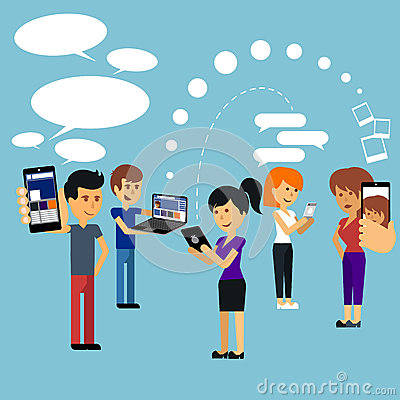 Free Young People Man And Woman Using Technology Gadget Royalty Free Stock Photos - 45496518