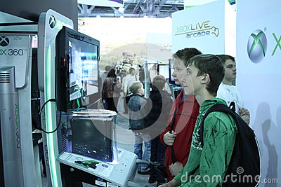 Young people playing video games Editorial Photo