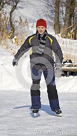 Young people skating