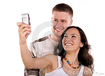 Young People Take A Picture Of Themselves Stock Photography - Image: 6042182