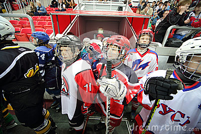Young players on closing ceremony of the championship Editorial Stock Photo