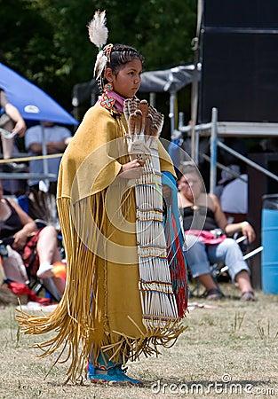Young Powwow  Traditional Buckskin Dancer Editorial Stock Image