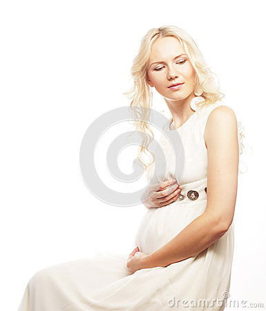 Young pregnant woman with gerber