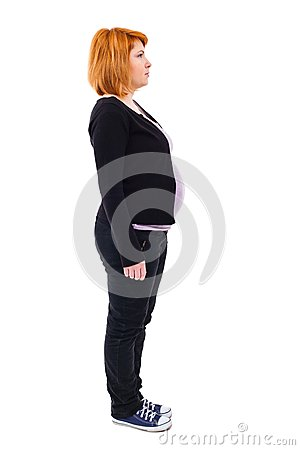 Pregnant woman profile
