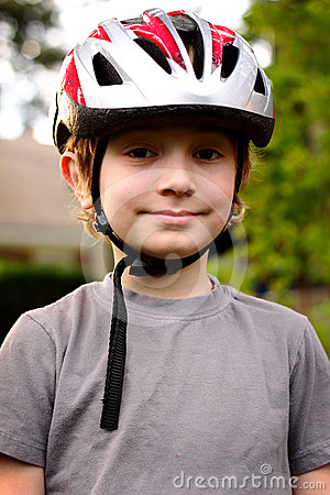 Young Preteen with Helmet