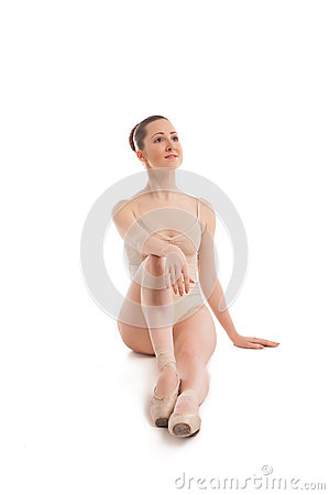 Free Young Pretty Ballet Dancer Sitting In Elegant Pose Stock Photography - 51955042