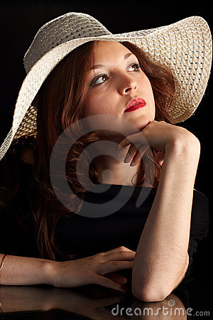 Young Pretty Woman in a hat
