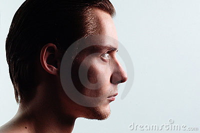 Young profile man
