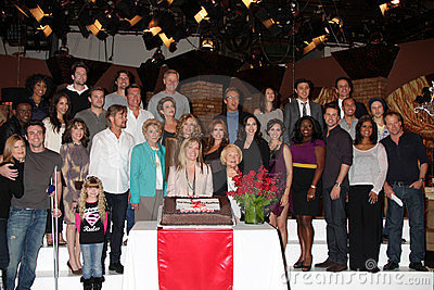 Young and Restless Cast at the Young & Restless 38th Anniversary On Set Press Party Editorial Image
