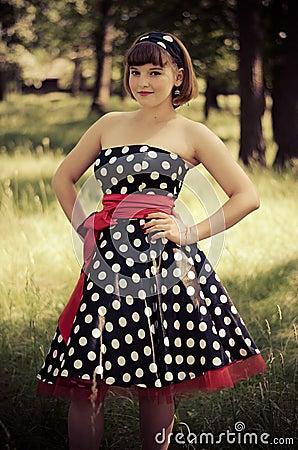 Young retro-girl