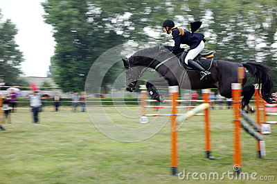 Young rider show jumping Editorial Stock Photo