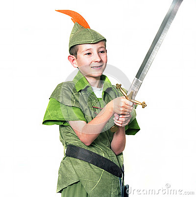 Free Young Robin Hood Royalty Free Stock Photo - 33447485