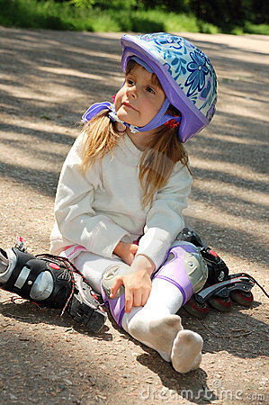Young rollerblader