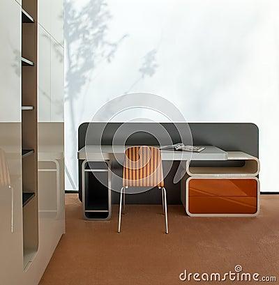 Young room interior design. Elegant and luxury.