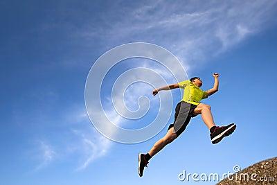 Young runner running