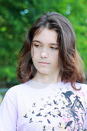 young sad woman