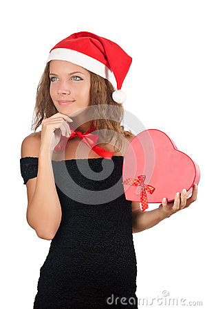Young santa with giftbox
