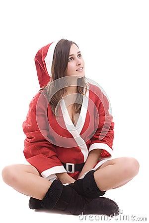 Young Santa Girl
