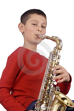 Free Young Sax Player Stock Photos - 4182223