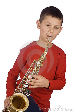 Young sax player