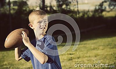Young Schoolyard Quarterback