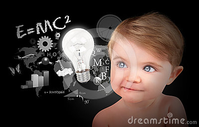Young Science Education Baby on Black
