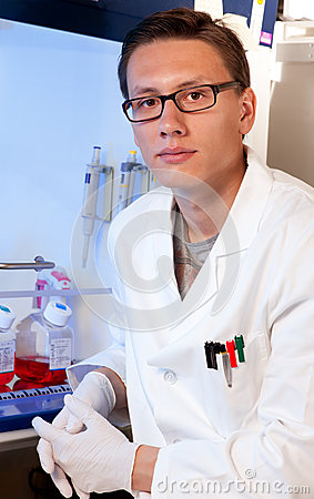 Young Scientist In Cell Culture Room Stock Photo - Image: 26001670