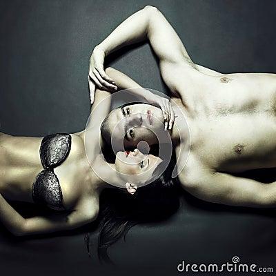 Young sensual couple