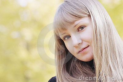 Young serene blonde