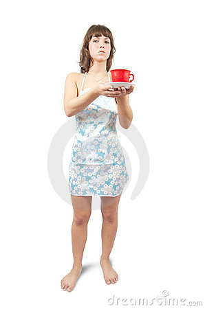 Young Sexy Maid With Tea Cup Stock Photography - Image: 11459272