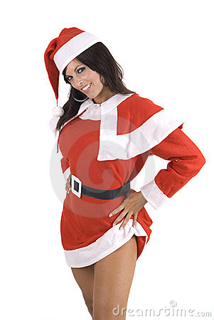 Free Young Sexy Santa Girl Isolated On White Royalty Free Stock Photo - 6406075