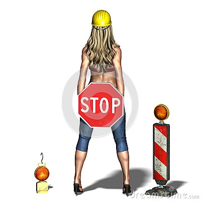 Young and woman says: please stop