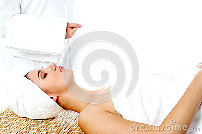 Young sexy woman in spa