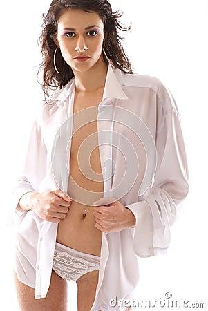 White blouse Sexy