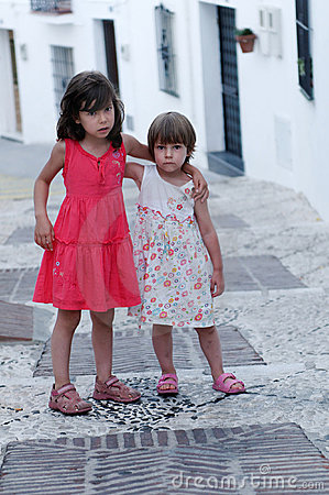 Young sisters in Spain
