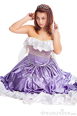 Young Sitting Woman In Long Ball Dress Stock Photography - Image: 11494662