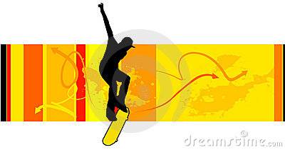 Young skater vector