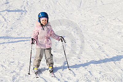 The young skier