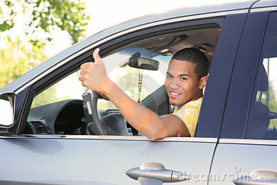 Young Smiling African American Male Driver