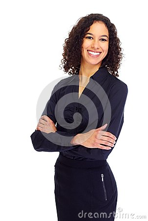 Free Young Smiling Business Woman Portrait. Royalty Free Stock Photo - 89744835