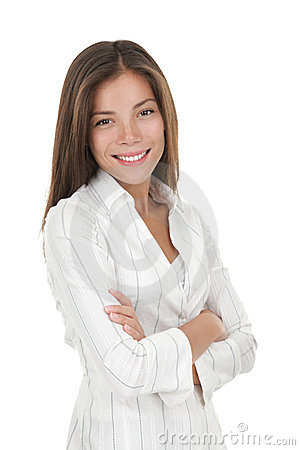 young smiling businesswoman confident