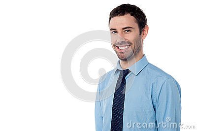 Young smiling cool businessman