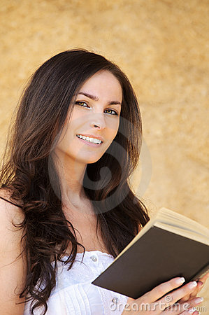Young smiling dark-haired woman