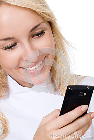 The young smiling doctor with mobile phone
