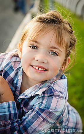 Young Smiling Girl - Outdoor Portrait