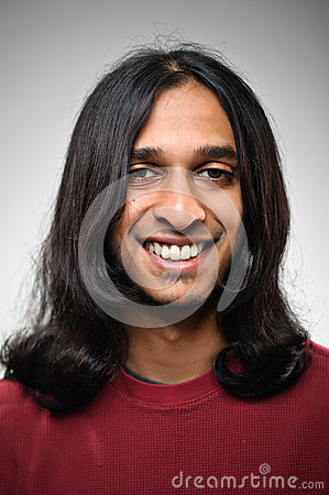 Young smiling Indian ethnic man portrait