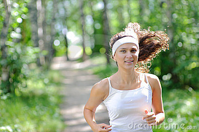 Young smiling jogger