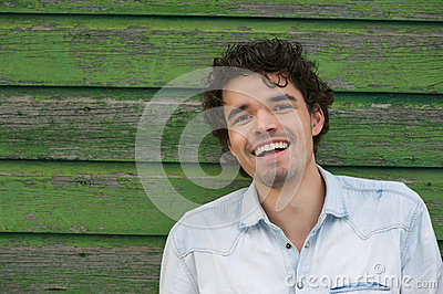 Young Smiling Man Outdoors