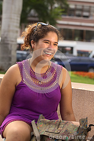 Young Smiling Peruvian Woman