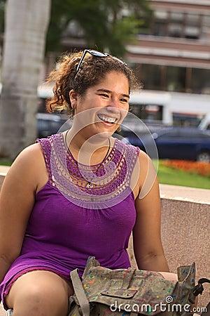 Free Young Smiling Peruvian Woman Stock Photos - 24630483